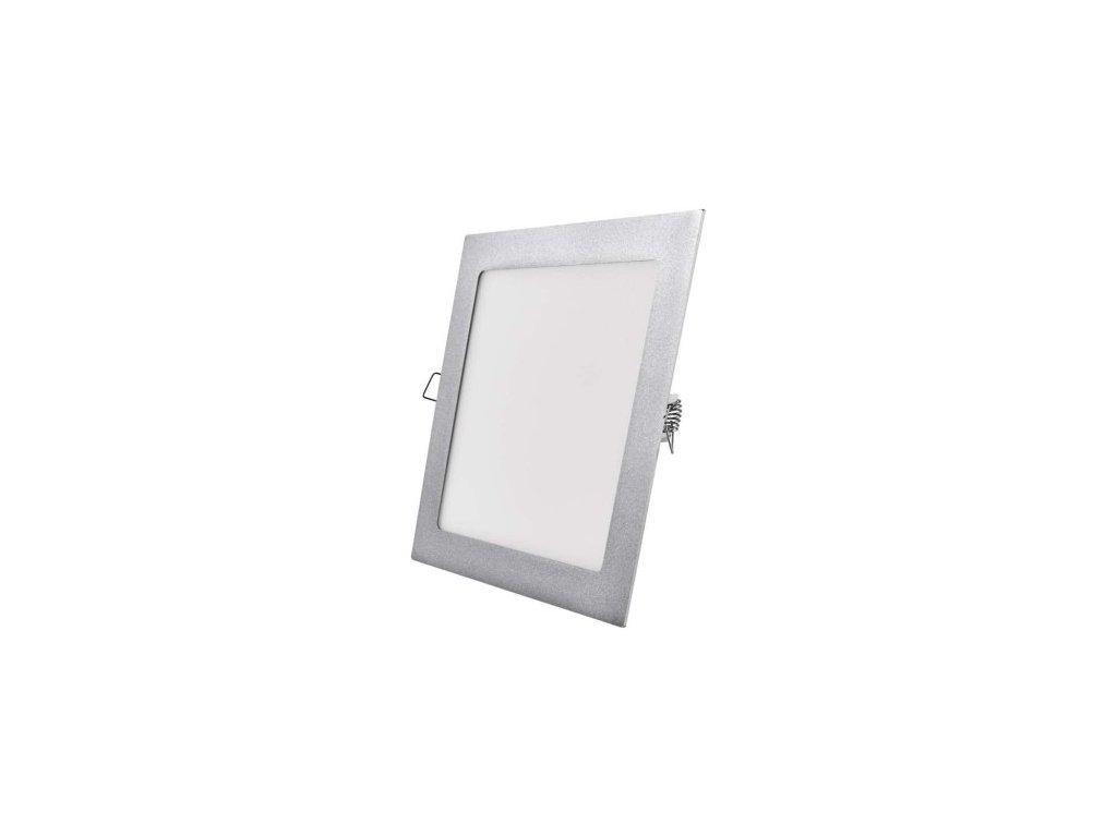 LED panel čtvercový vestavný - 18W NW - stříbrný - Emos (ZD2142)