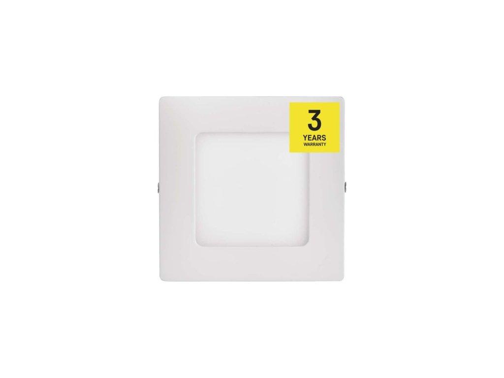 LED panel 120×120, přisazený bílý, 6W neutrální bílá (ZM6122)