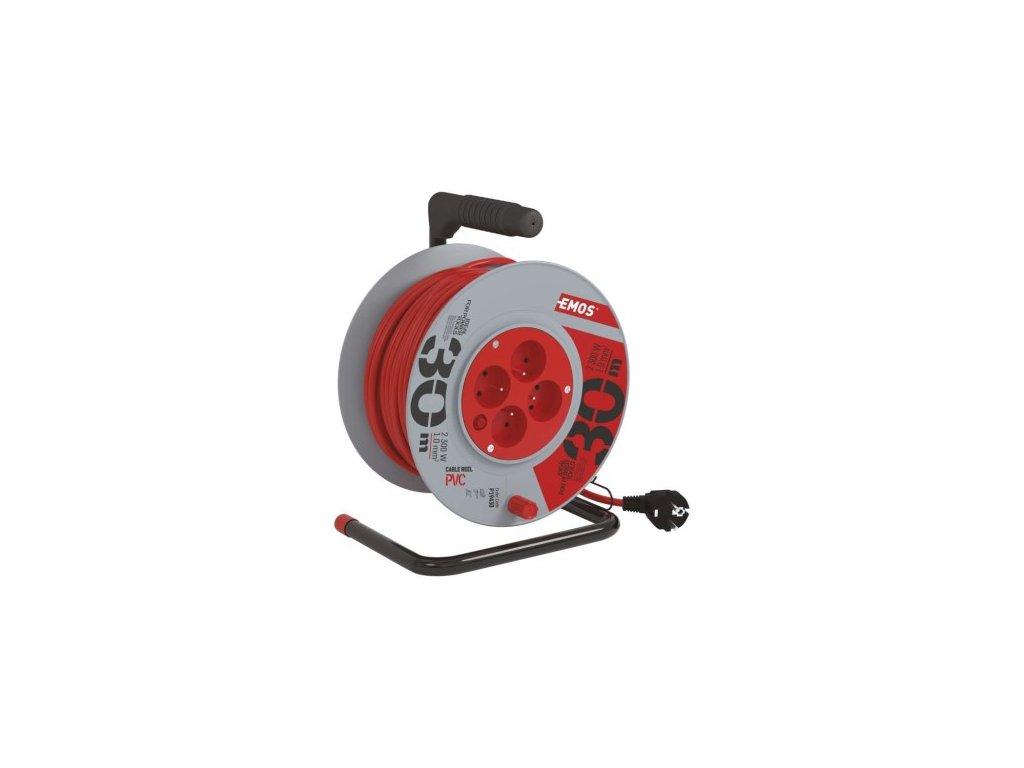 PVC prodlužovací kabel na bubnu - 4 zásuvky 30m