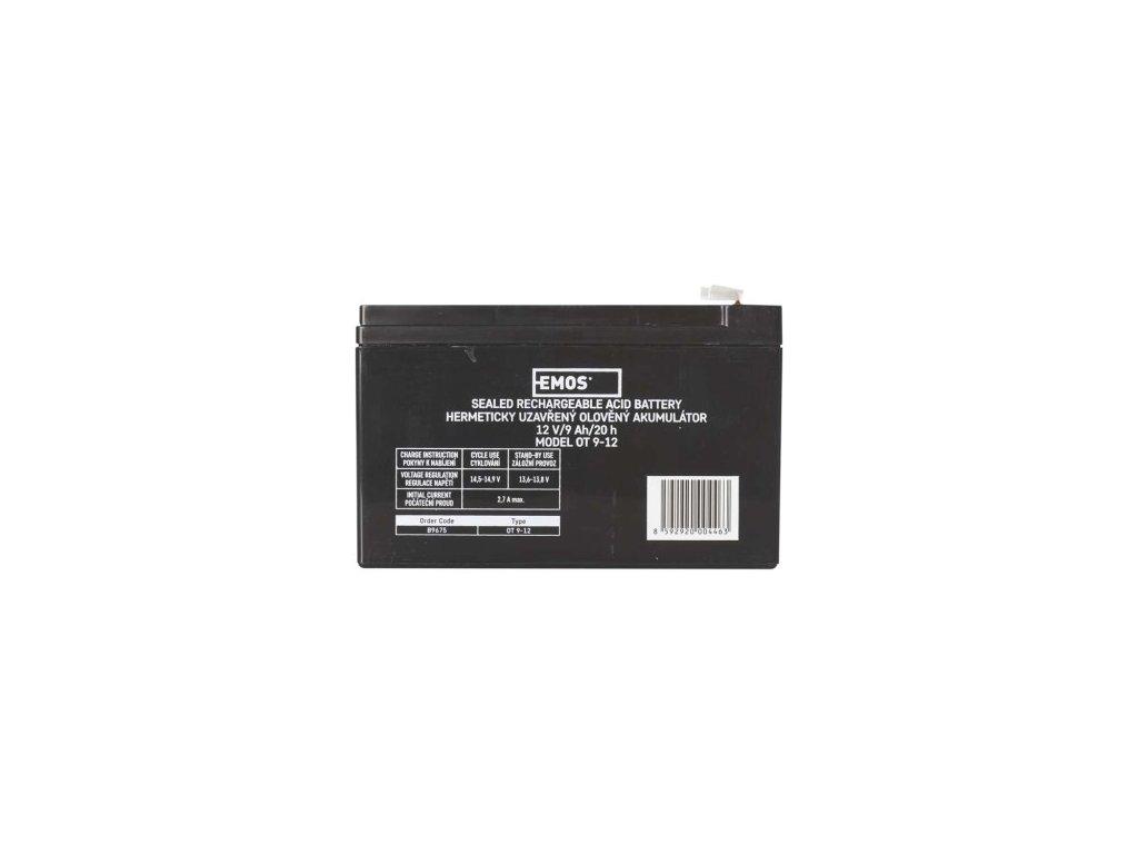 Bezúdržbový olověný akumulátor 12V 9Ah - Emos (B9675)