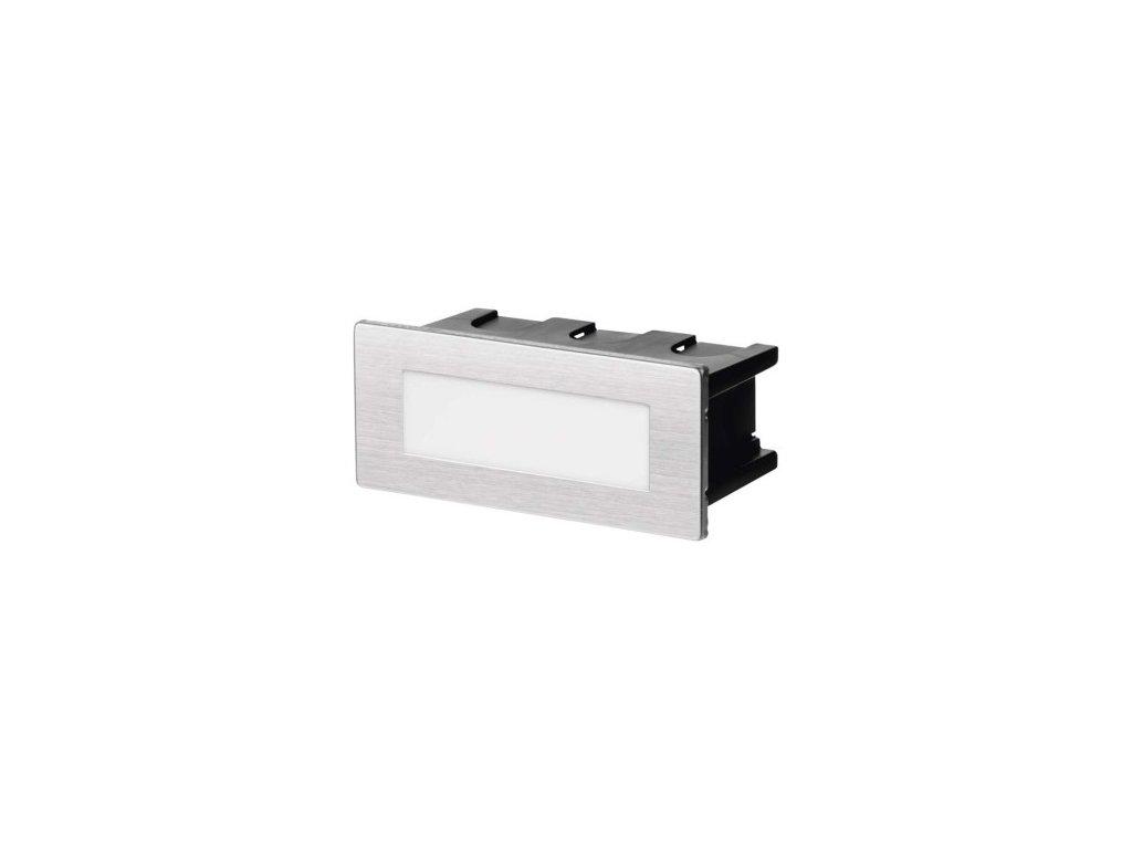 LED orientační vestavné svítidlo - 1,5W, 55lm, WW, 123x53mm, IP65 - Emos (ZC0108)
