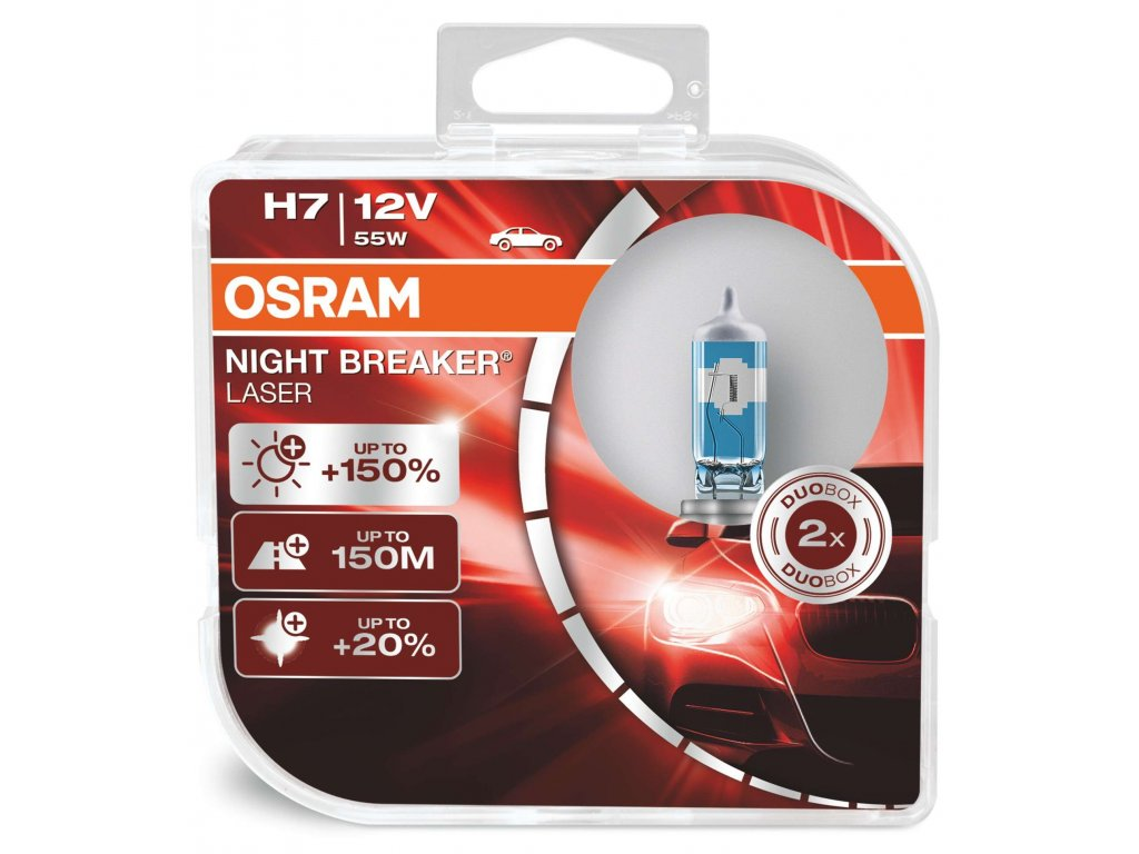 H7 Osram Night Breaker® Laser Next Generation (2 ks) - 12V, 55W, PX26d - Osram (64210NL-HCB)  (cena za sadu 2 ks!)