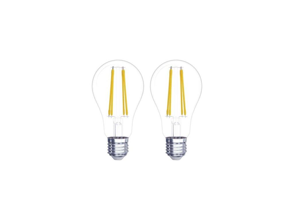 LED žárovka Filament - Classic A60 - 6W, 806lm, E27, teplá bílá - 2 ks - Emos Lighting (Z74260.2)