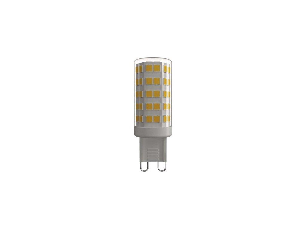 LED žárovka Classic JC A++ 4,5W G9 teplá bílá - Emos (ZQ9540)