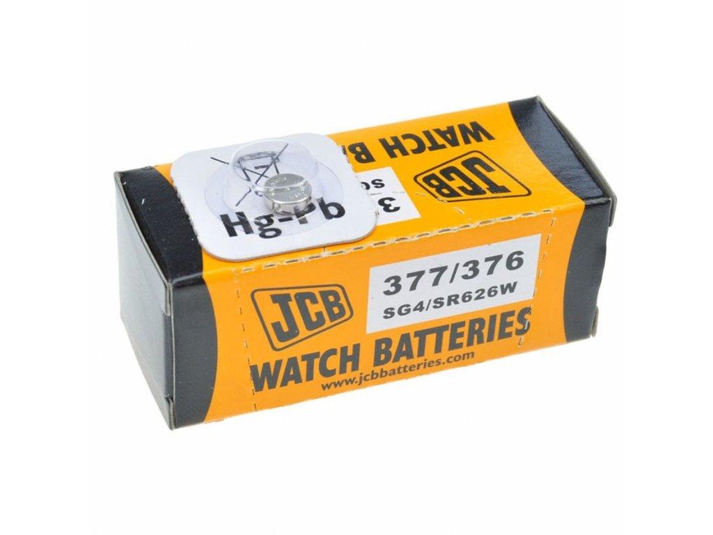 JCB hodinkové baterie typ 376/377, balení 10ks