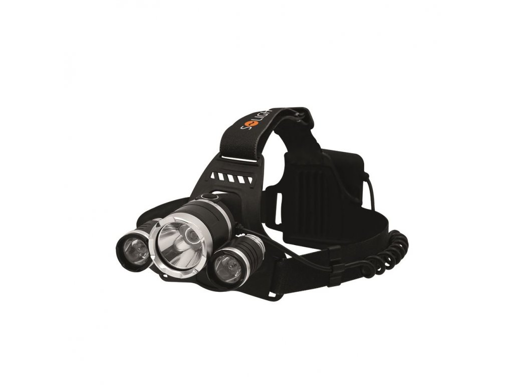 LED čelová svítilna SUPER POWER, 900lm, 3x Cree LED, 4x AA - Solight (WH23)