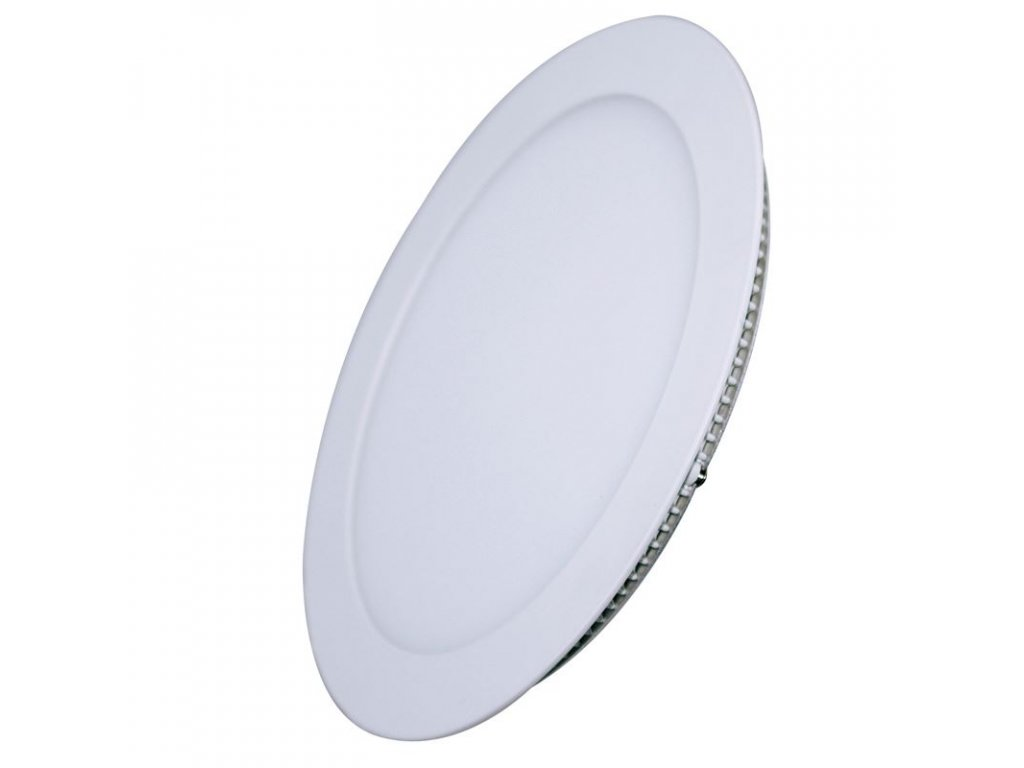 LED podhledový mini panel - 12W, 900lm, WW - 3000K, kruh, bílý - Solight (WD105)