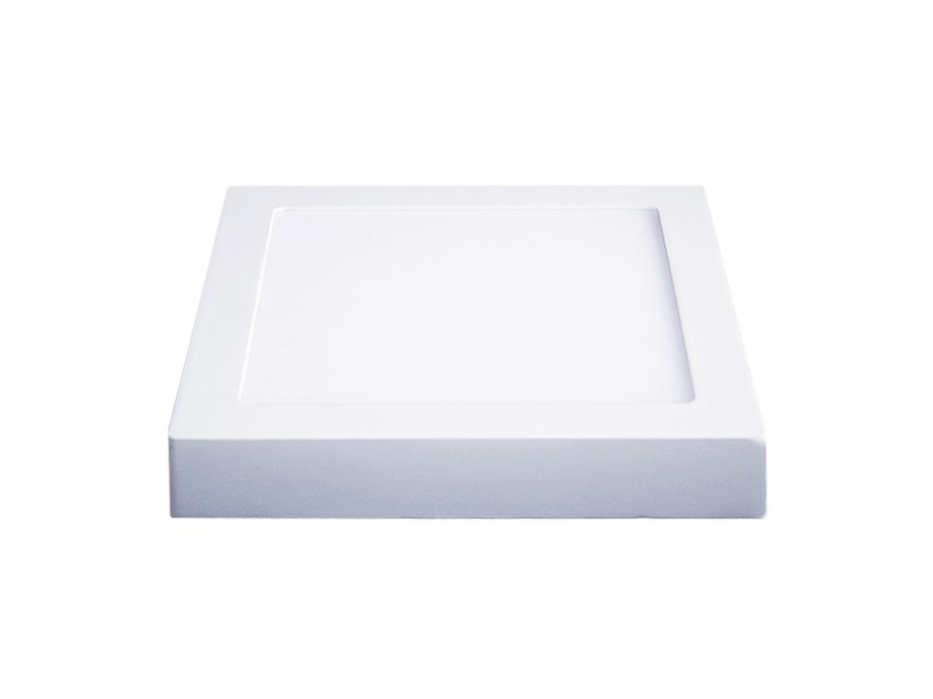 Solight LED panel přisazený, 12W, 900lm, 3000K, čtvercový, bílý (WD114)