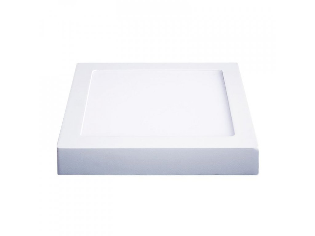 Solight LED panel přisazený, 12W, 900lm, 4000K, čtvercový, bílý (WD116)