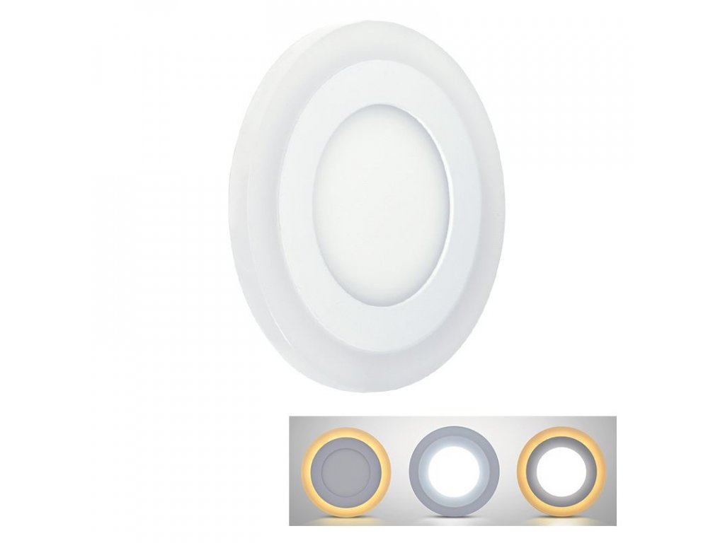 LED podsvícený panel  - 6W (NW) + 3W (WWW), 400lm, 4000K, kruh - Solight (WD150)