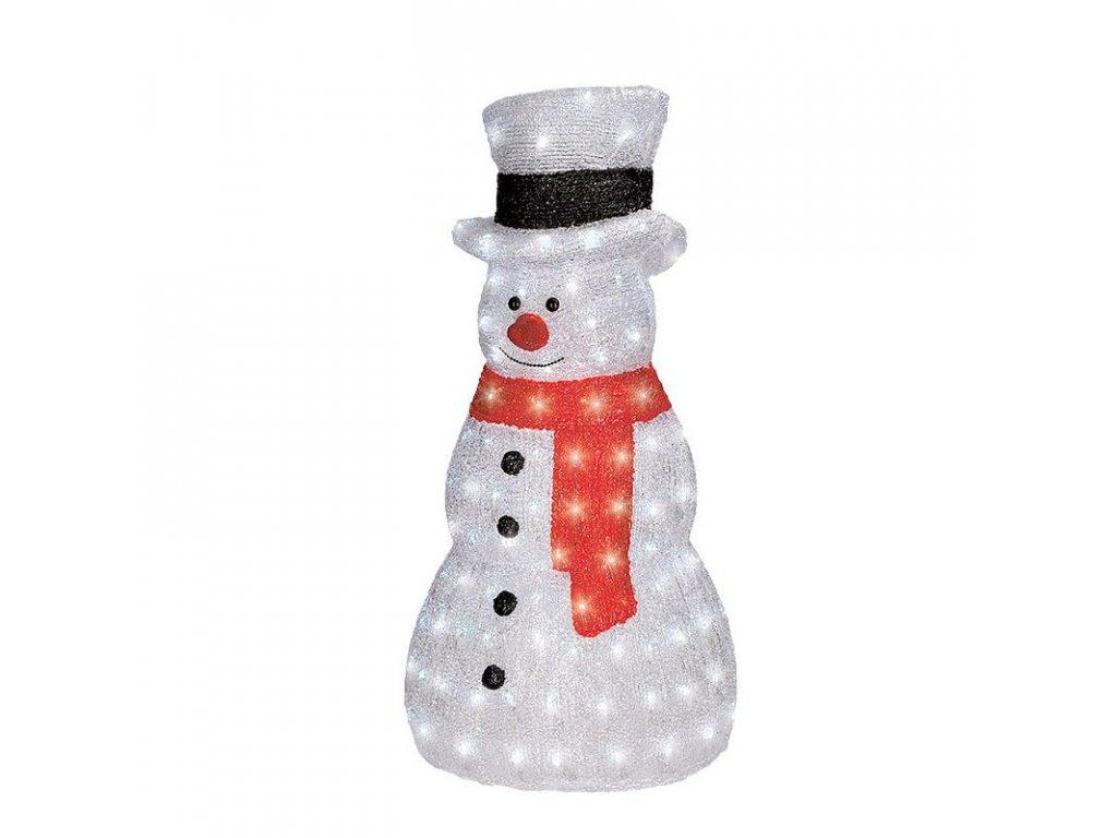 LED vánoční dekorace - sněhulák - 160xLED, výška 75 cm, IP44, 230V, studená bílá - Solight (1V46)