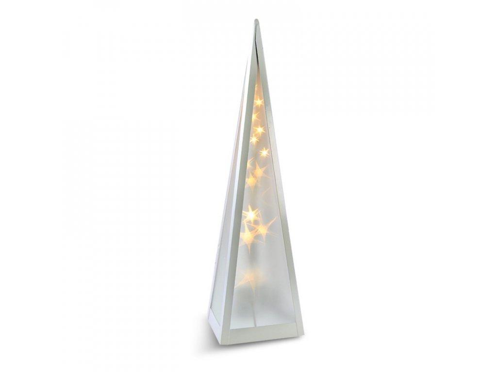 LED vánoční dekorace - pyramida - 16xLED, 3D efekt světla, otáčecí, 45 cm, IP20, 230V, teplá bílá - Solight (1V44)