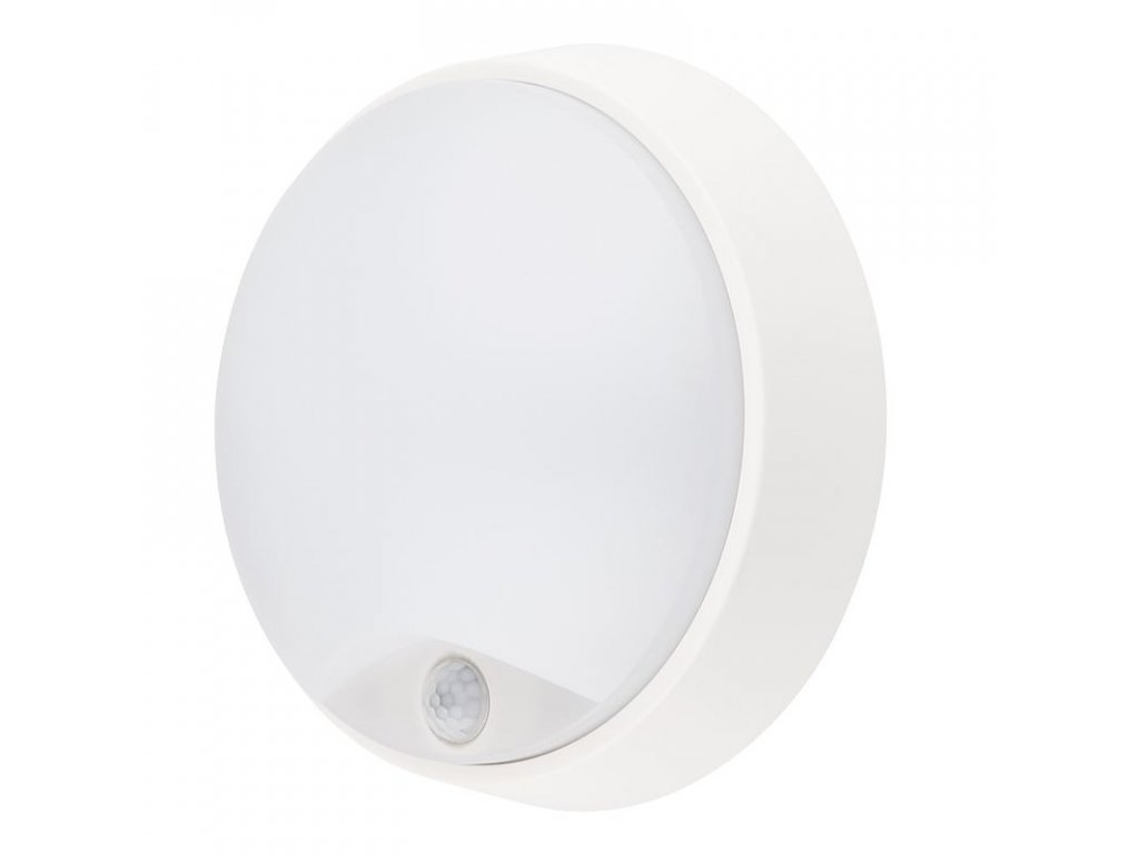 LED venkovní osvětlení se senzorem - 14W, 1000lm, 4000K, IP54, 22cm - Solight (WO724)