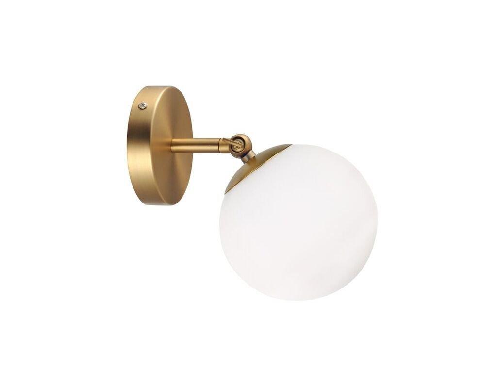 Nástěnné a stropní svítidlo | Ø15cm, mosaz / bílá | Aca Lighting (V360501W)
