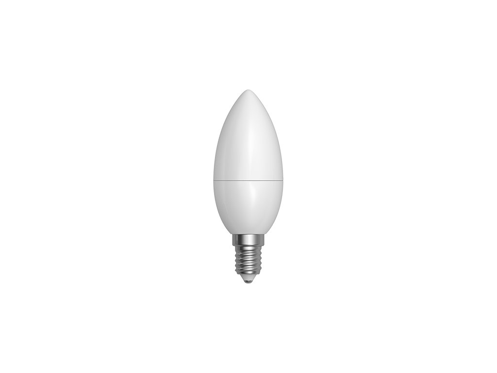LED žárovka svíčka 5W E14 6400K CW SKYLIGHTING (C37CPA-1405F)