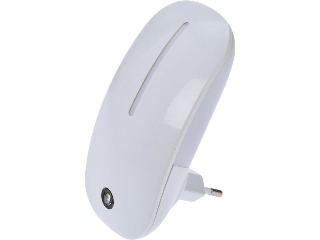 Noční LED světélko se světelným senzorem, 1W, 230V, bílé - Solight (WL901)