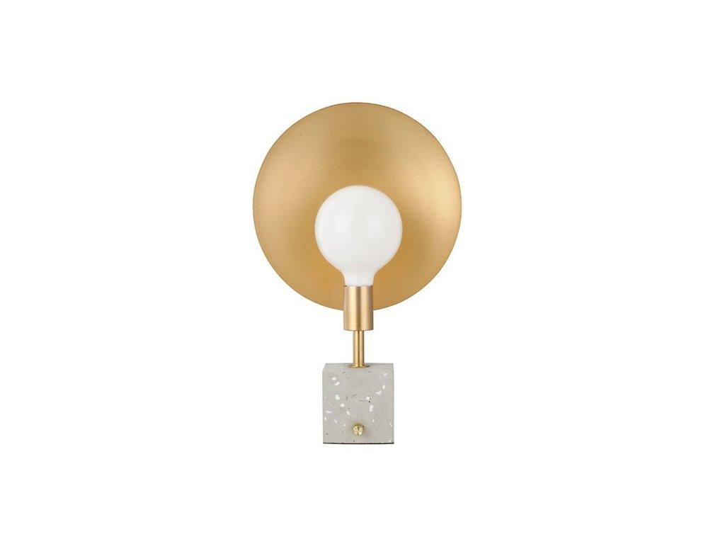 Stolní lampička | Ø18cm, mosaz / přírodní | Aca Lighting (V362981ST)
