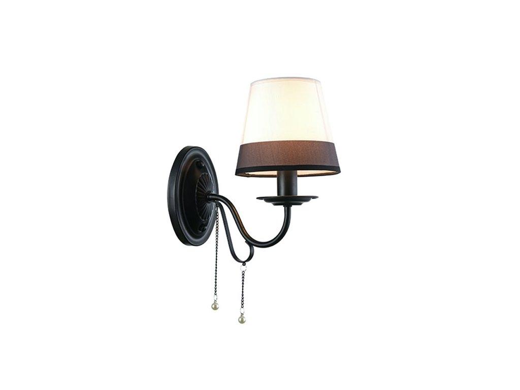 Nástěnné svítidlo | Ø15x13cm, matná černá + černobílá + perla | Aca Lighting (EG167281WBW)