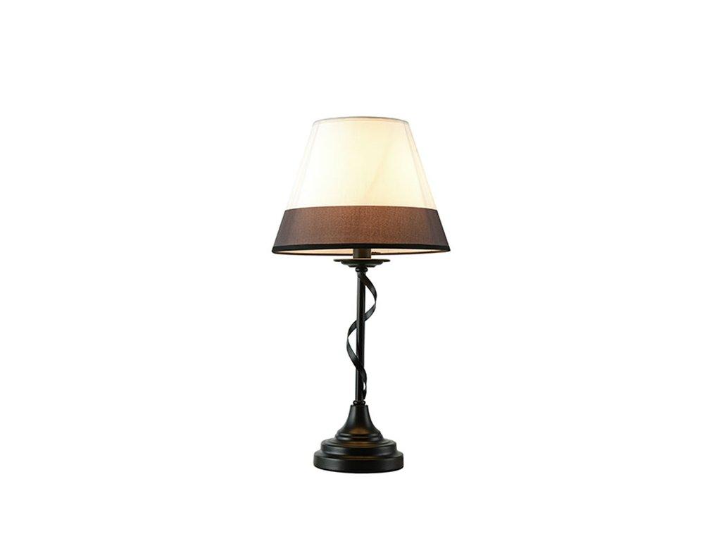 Stolní lampička | Ø28x20cm, matná černá + černobílá + perla | Aca Lighting (EG167281TBW)