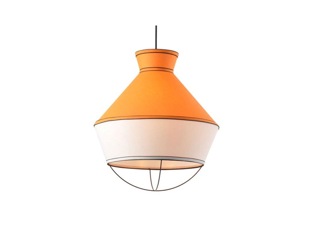 48041 2 zavesne svitidlo colorato 45x51cm tmave oranzova bila cerna tkanina aca lighting v371963py