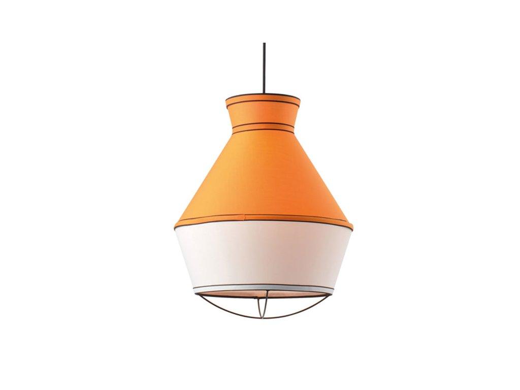 48281 2 zavesne svitidlo colorato 35x43cm tmave oranzova bila cerna tkanina aca lighting v371961py