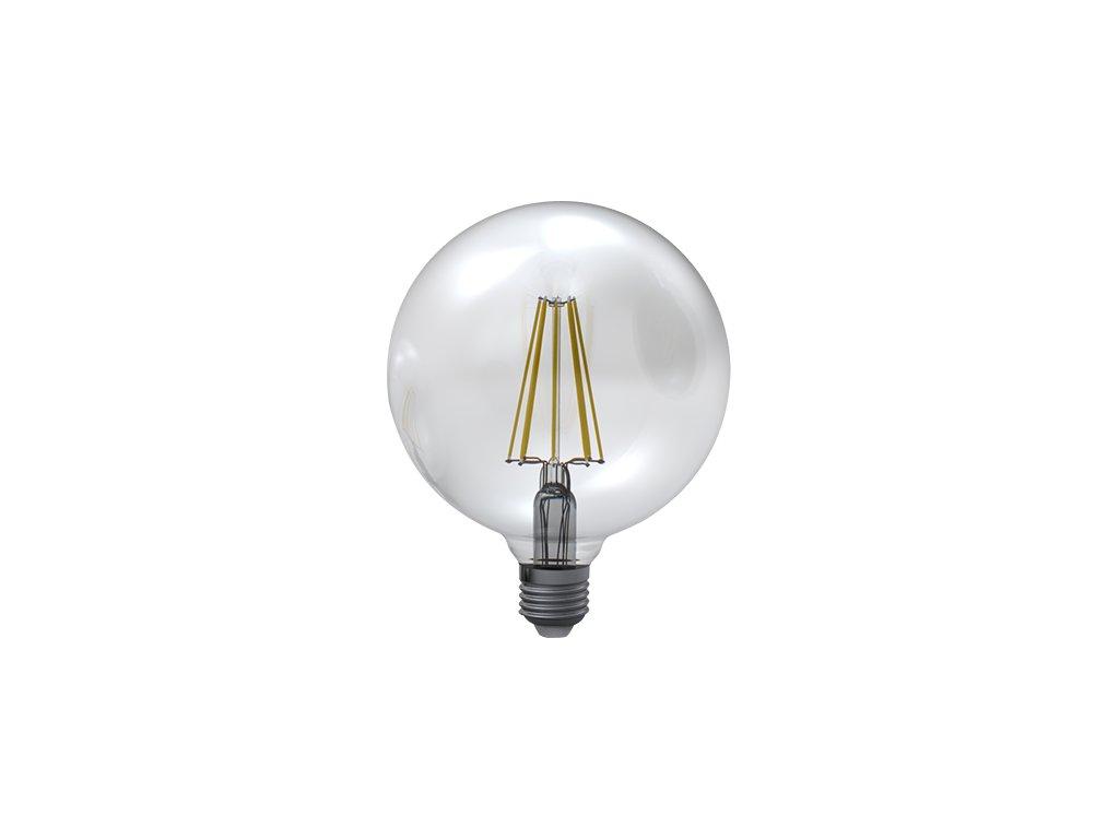 LED žárovka globe čirá 8W E27 6400K CW SKYLIGHTING (GNFL-1258F)