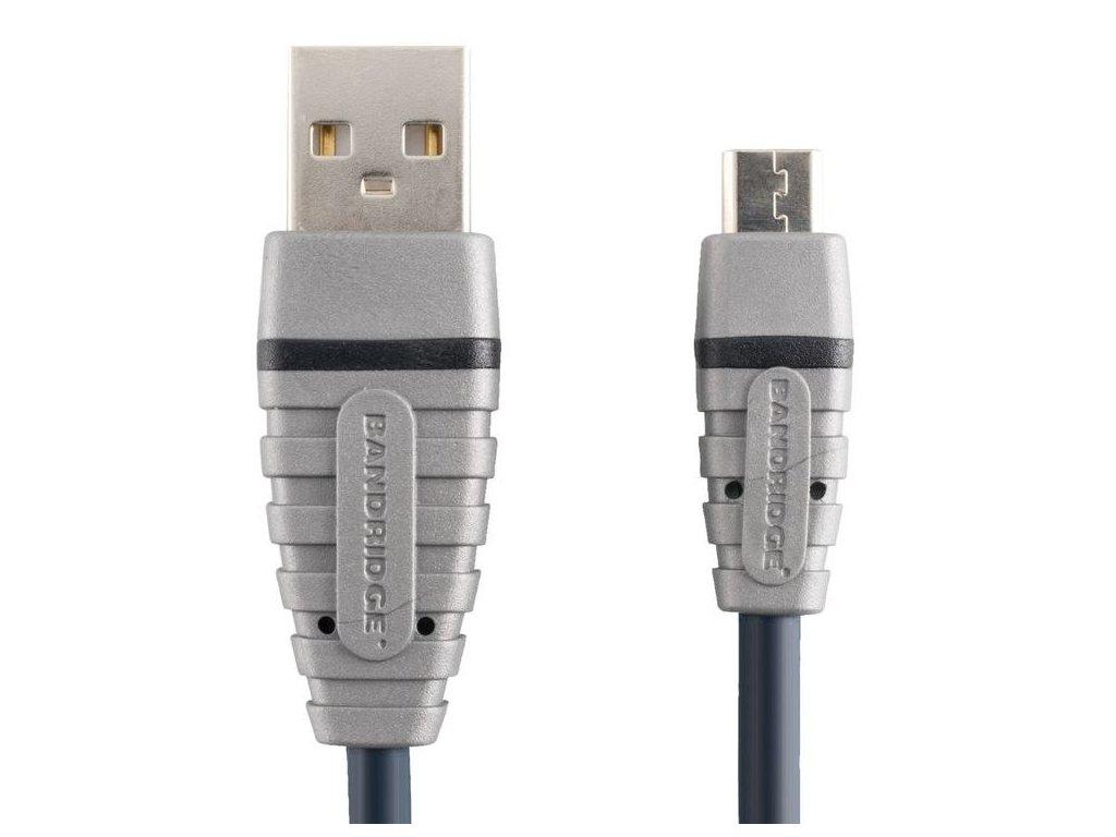 Bandridge USB 2.0 mikro B kabel, 2m, BCL4902