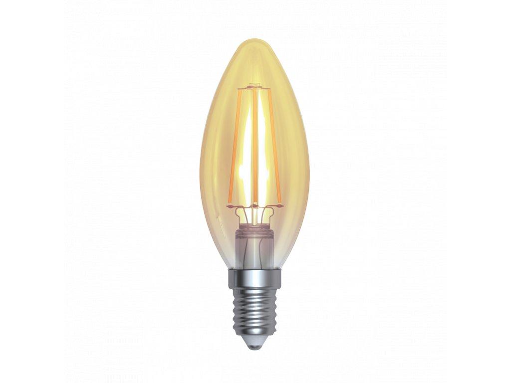 LED žárovka svíčka amber 4W E14 2200K WWW SKYLIGHTING (HCFL-1404A)