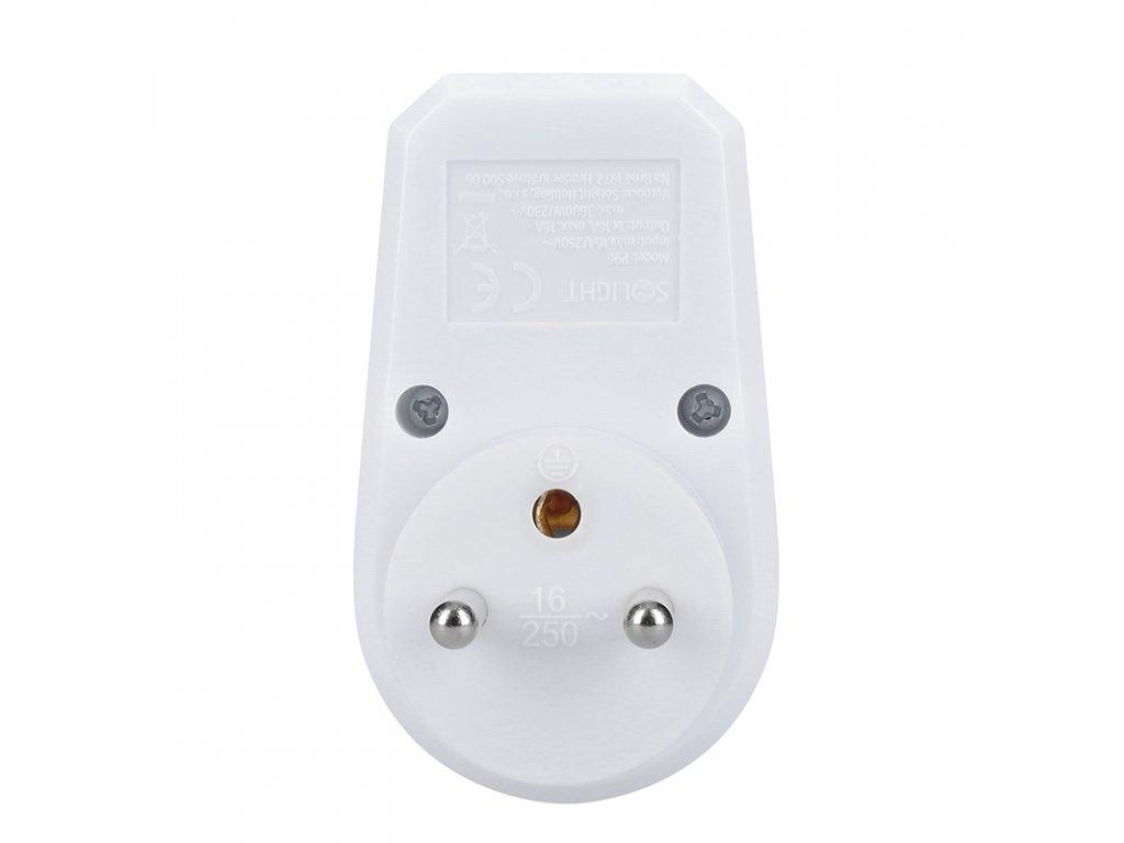 Zásuvka - 10A, bílá, vypínač - Solight (P96)