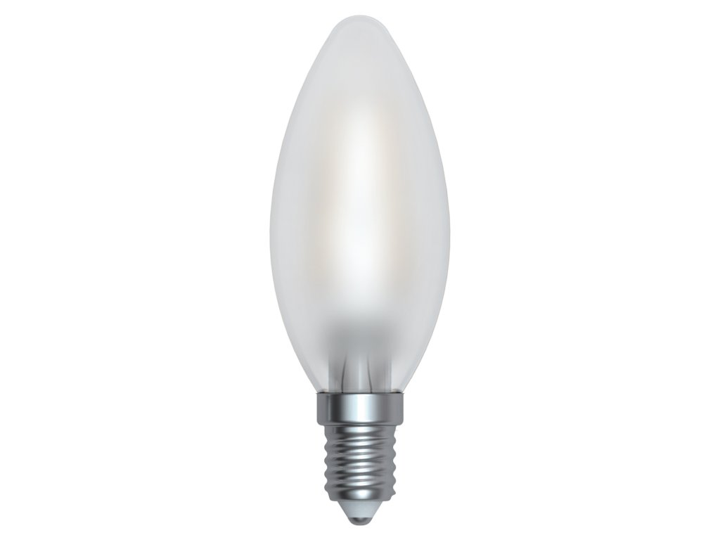 LED žárovka svíčka matná 4W E14 4200K NW SKYLIGHTING (HCFL-1404SD)