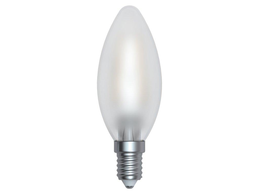 LED žárovka svíčka matná 4W E14 6400K CW SKYLIGHTING (HCFL-1404SF)
