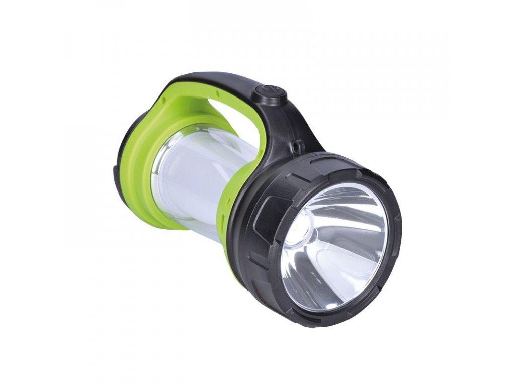 LED svítilna nabíjecí s lucernou, 3W Cree, 168lm + 200lm, zeleno-černá - Solight (WN27)