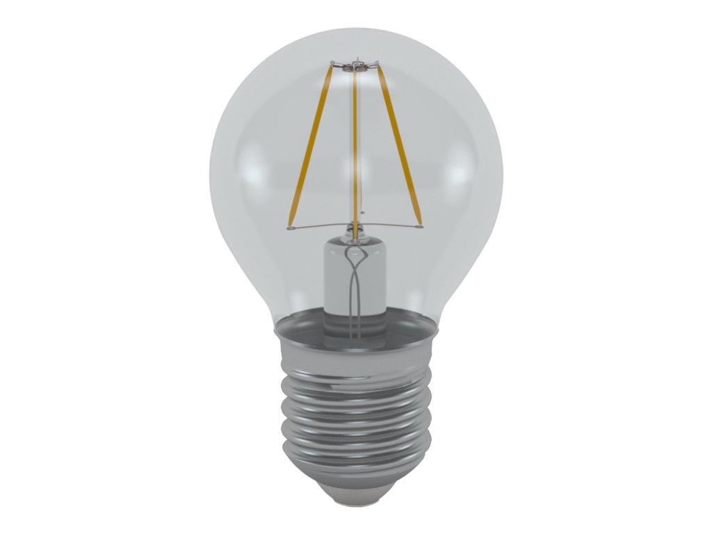 LED žárovka miniglobe čirá 4W E27 6400K CW SKYLIGHTING (MGFL-2704F)