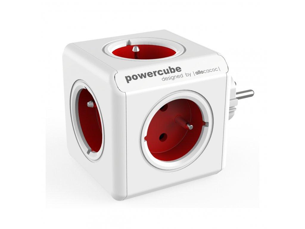 724 4 powercube original 5 x zasuvka cervena