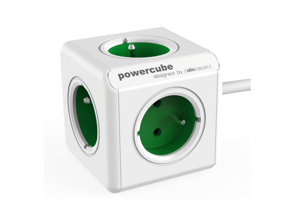 739 2 powercube extended 5 x zasuvka 1 5 privodni kabel zelena