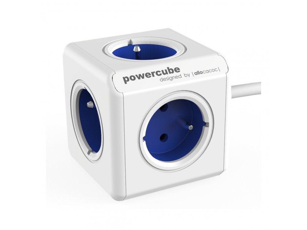 742 2 powercube extended 5 x zasuvka 1 5 privodni kabel modra