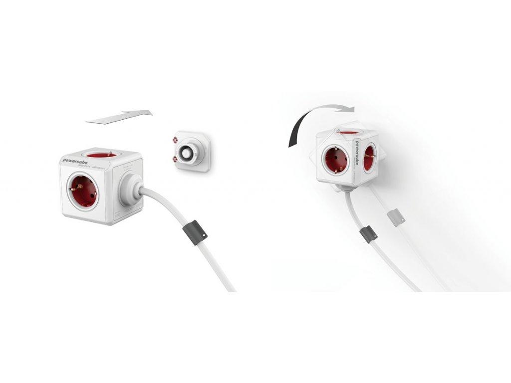 PowerCube Extended - 5 x zásuvka + 1,5 přívodní kabel - šedá