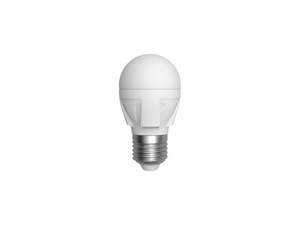 LED žárovka miniglobe 6W E27 6400K CW SKYLIGHTING (G45-2706F)