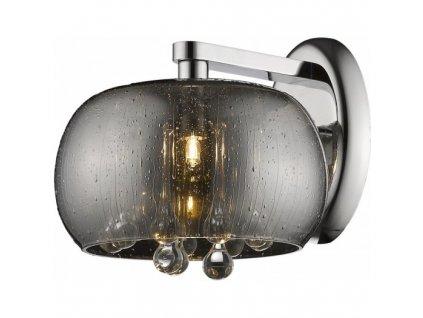 Nástěnné svítidlo RAIN 1D   Ø22cm, stříbrná, chrom   Zuma Line (W0076-01D-F4K9)