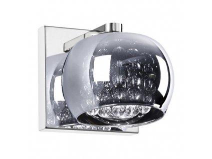 Nástěnné svítidlo CRYSTAL 01A | Ø13cm, chromované průsvitné sklo, chrom | Zuma Line (W0076-01A-B5FZ)