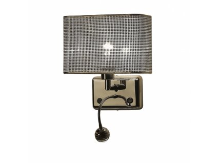 Stolní svítidlo BLINK 02A | Ø28cm, chrom, křišťál | Zuma Line (W0173-02A-F4B3)
