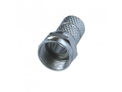 Solight anténní F konektor, šroubovací, průměr: 5mm, 5ks, sáček