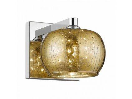 Nástěnné svítidlo RAIN 1A   Ø13cm, zlatá, chrom   Zuma Line (W0076-01A-B5L9)