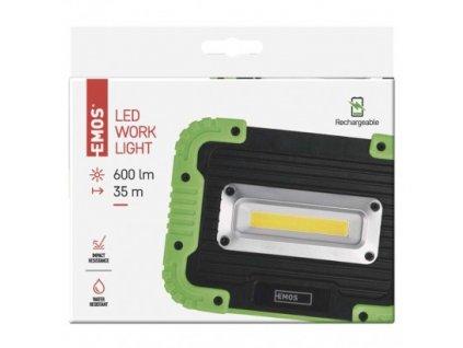 COB LED nabíjecí pracovní reflektor - 600lm, 3000mAh - Emos (P4534)