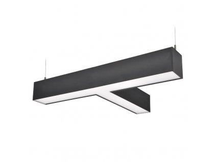 LED lineární závěsné osvětlení - 27W, 2300lm, T konektor, Lifud, 3 roky záruka, černá barva - Solight (WPR-27W-002)