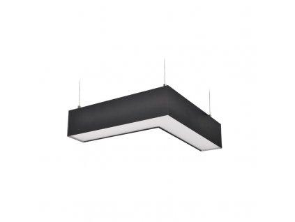 LED lineární závěsné osvětlení - 18W, 1500lm, L konektor,Lifud, 3 roky záruka, černá barva - Solight (WPR-18W-002)