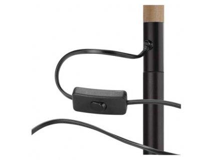 Stojací lampa EDWARD - černá, 1 x E27 - Emos (Z7606)