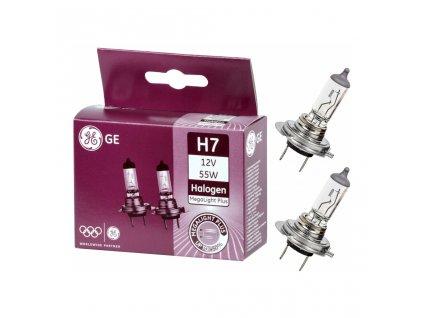 Akční set H7 + H1 Megalight Plus +50% (2 ks) - GE Lighting (19759+19758)