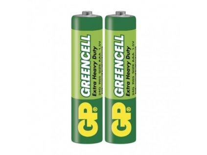 Zinkochloridová baterie GP Greencell R03(AAA) fólie