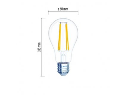 LED žárovka Filament - Classic A60 - 6W, 806lm, E27, teplá bílá - Emos Lighting (Z74260)